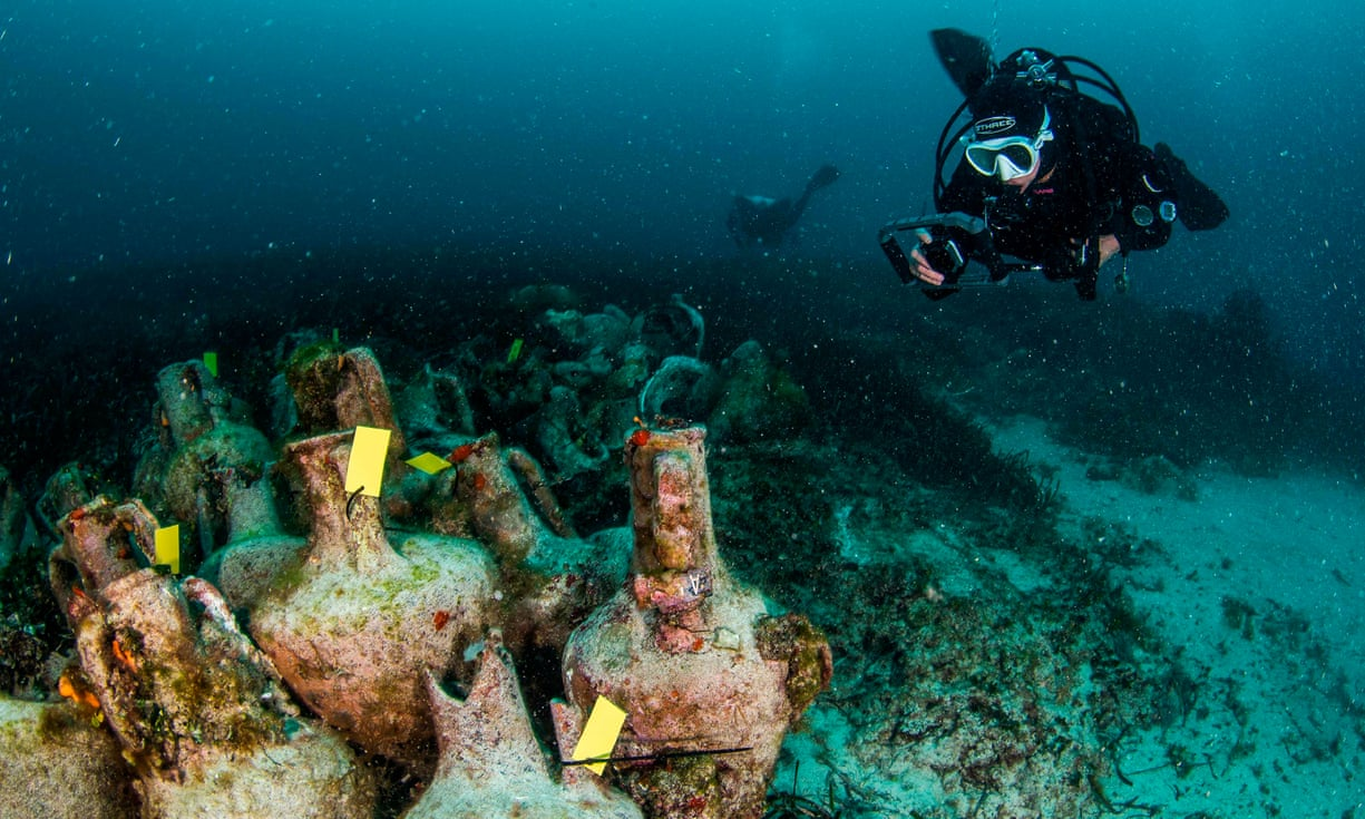 Parthenon of shipwrecks - Photograph: Y Issaris/AFP/Getty Images